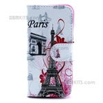 iPhone 4S/4 Wallet Case Design Triumphal Arch & Eiffel Towel