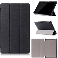 "Kindle Fire HD 7"" Tri Fold Magnet Stand Wallet Case Black"