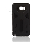 Galaxy Note 5 N920 Hard Case 2-in-1 Plastic + TPU Hybrid Phone Cover Black