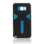 Galaxy Note 5 N920 Hard Case 2-in-1 Plastic + TPU Hybrid Phone Cover Blue