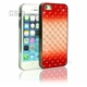 iPhone SE/5s/5 Red and White zigzag Daimond Case
