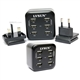 Lvsun 6-Port Wall Charger with UK/US Travel Adapter 6.8A/34W