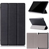 "Kindle Fire HD 8"" Tri Fold Magnet Stand Wallet Case Black"