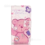 Galaxy A5 (2016) A510F Wallet Case Design My Pretty Garden Bear