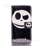 Galaxy A3 (2016) A310F Wallet Case Design Eyebrow Up Ghost