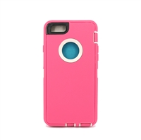iPhone 5C Hard Case Design HeavyDuty Defender Rose White