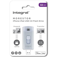 Integral  Morestore iPhone-iPad 32GB USB 3.0 Flash Drive