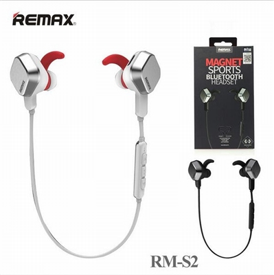 Remax Bluetooth Headset Magnet Sports RB-S2 White
