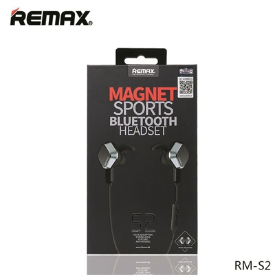 Remax Bluetooth Headset Magnet Sports RB-S2 Black