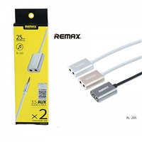 Remax RL-S20 3.5mm Share Jack Cable Silver