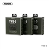 Remax TWS-5 True Wireless Stereo Earbuds For Calls and Music Green