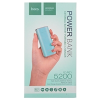 Hoco B21 5200mAh Tiny Concave Pattern Powerbank Cyan