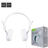 HOCO W5 Manno Wired Over-ear Stereo Headphone with Remote Control and Mic White