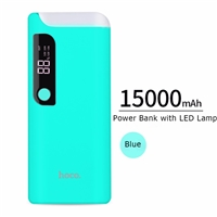 Hoco B27 15000mAh Dual USB With Lamp 5V/2A Blue