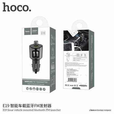 Hoco E19 Smar Vehicle Mounted Bluetooth FM Transmitter