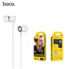 Hoco M37 Hi Fi sound Universal Wired Earphones With Microphone White