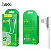 Hoco U42 Exquisite Steel Lighting Charging Data Cable White