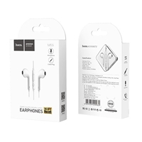 Hoco M55 Memory Sound Wired Control Earphones With Mic White