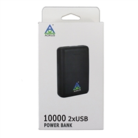 Aokus A04 Dual Usb Fast charge 10000mAh Powerbank 5V/2.1A Black