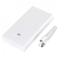 Xiaomi MI Dual USB PowerBank 20000mAh Quick Charge 2nd Generation (Silver)