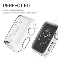 Apple Watch 44mm  Clear TPU Protective Cover Case with Non-slip Inner For Series 3 2 1
