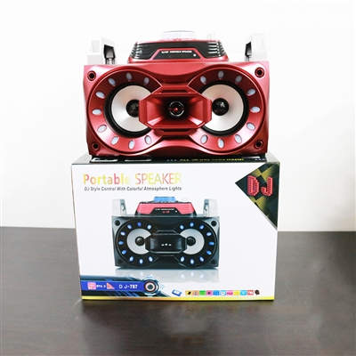 Portable Party Speeky DJ-787 Bluetooth Speaker 30W Red