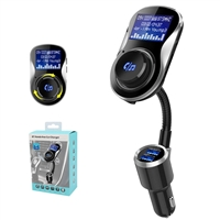 BC26 Bluetooth Car Kit Hands-Free Wireless FM Transmitter Black