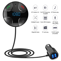 Quelima BC29B Magnetic Bluetooth FM Transmitter Black