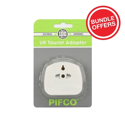 PIFCO/EUROSONIC UK Tourist Adaptor (10Pcs Bundle)