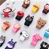 Cartoon PVC Earphone/Cable Winder Mixed Color