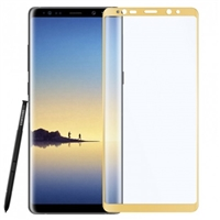 Galaxy Note 8 Tempered Glass 3D Gold