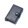 Genuine Leather K01 Smart Single  Layer Card Holder Blue