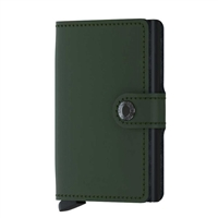 Genuine Leather K01 Smart Single Layer Card Holder  Green