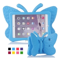 iPad 2/3/4 Shockproof Kids Butterfly Case Blue