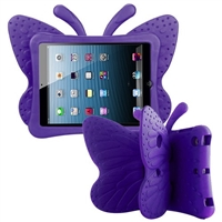 iPad 2/3/4 Shockproof Kids Butterfly Case Purple