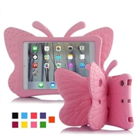 iPad 2/3/4 Shockproof Kids Butterfly Case Rose