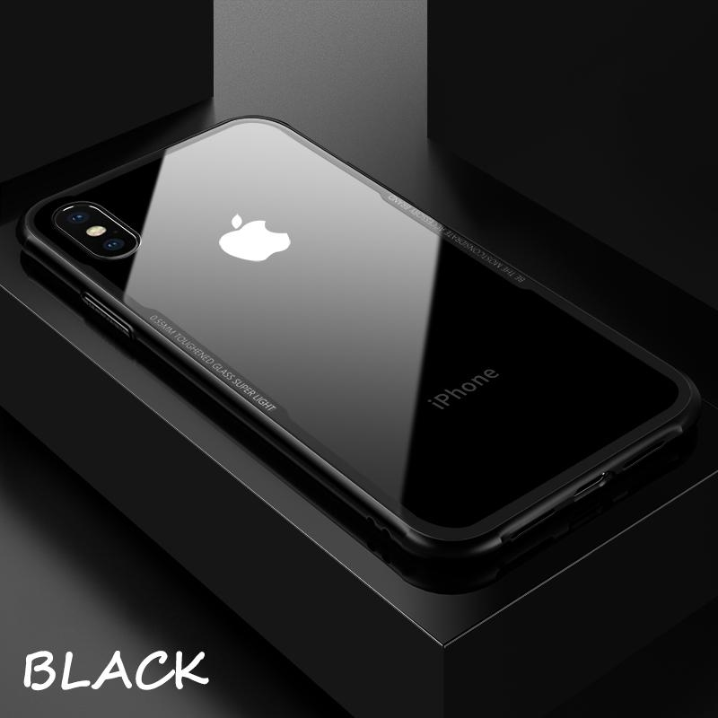 big sale b301e dbb7f iPhone 5s Shockproof Tempered Glass Case Black