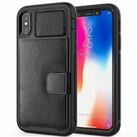 iPhone 6/7/8 Magnetic Leather Card Holder Case Black