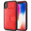 iPhone 6/7/8 Magnetic Leather Card Holder Case Red