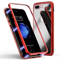 iPhone 6S/6 Magnetic Metal Frame Glass Case Red