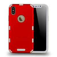 iPhone 8/7 extra thin 2 in 1 case red