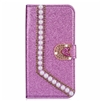 iPhone 7/8 Painted Glitter Pearl  Wallet Case Purple