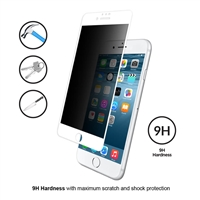 iPhone 7/8 Plus 3D Full TempeRed Glass Privacy White