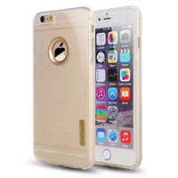 iPhone 7 Plus Carborn Fiber Texture TPU Case Gold