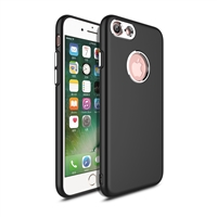 iPhone 8/7 Rubber TPU Case with metal key Black