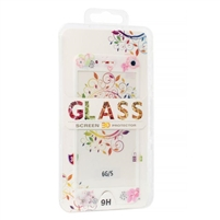 iPhone 8/7 2.5D Full Cover Soft Tempered Glass Flower