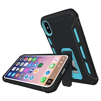 iPhone XS/X Hard case 2 in 1 PC Stand Blue