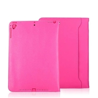 iPad 9.7'' Universal Sewing Leather Smart Wallet Case Rose