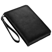 "New iPad Air (2019)/ iPad Pro 10.5"" Sewing Leather Smart Wallet Case Black"
