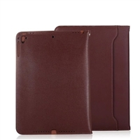 "New iPad Air (2019)/ iPad Pro 10.5"" Sewing Leather Smart Wallet Case Brown"